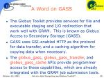 a word on gass