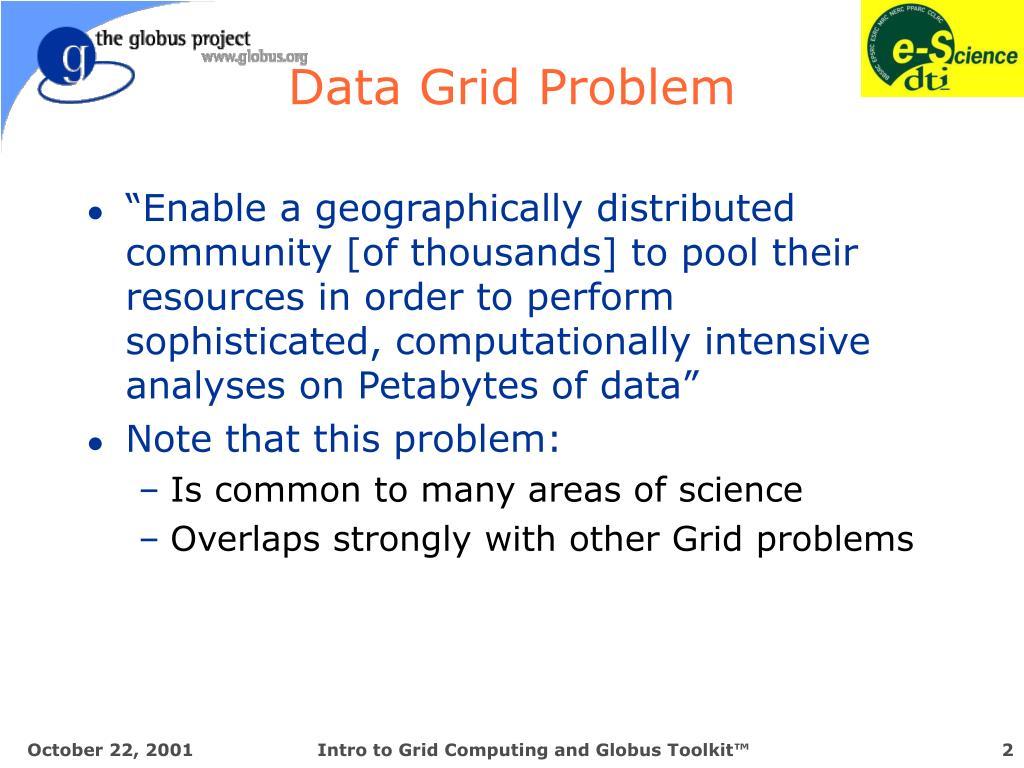 Data Grid Problem