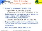 data intensive computing and grids