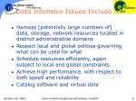 data intensive issues include