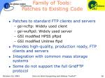 family of tools patches to existing code