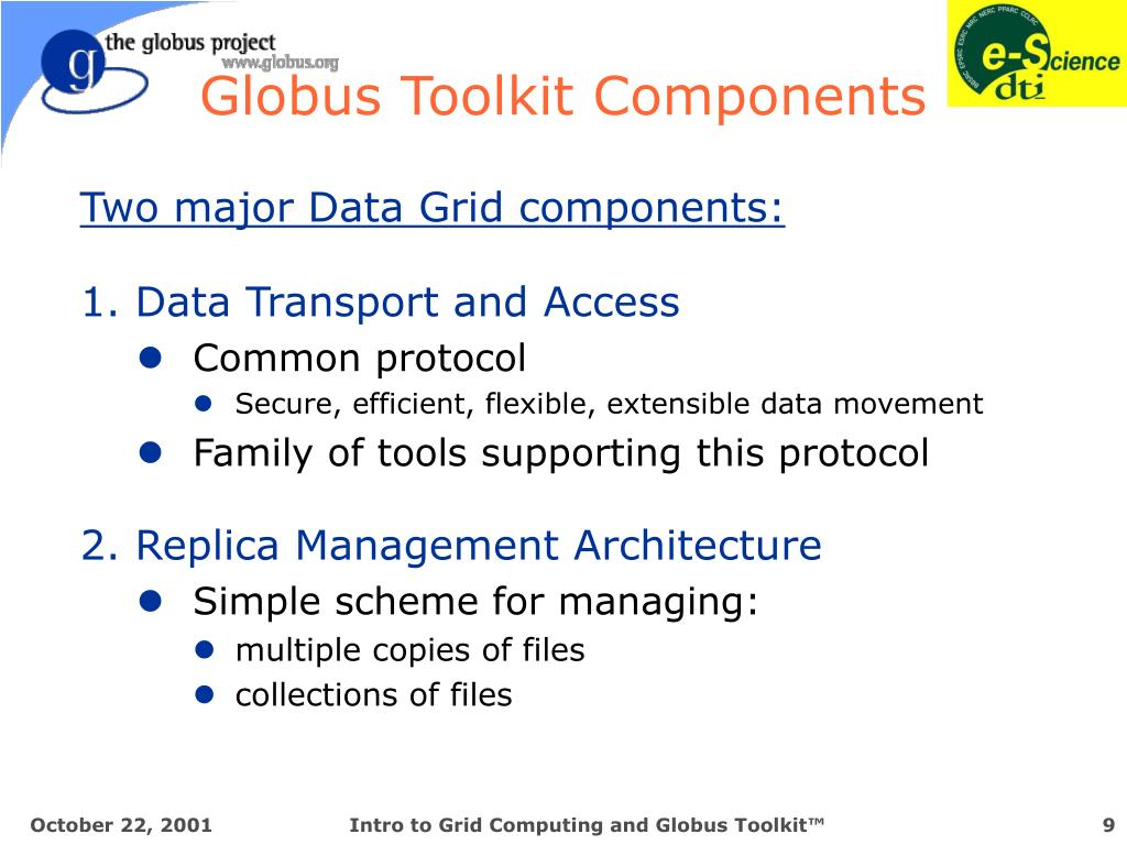 Globus Toolkit Components