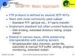 gridftp basic approach