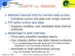gridftp vs webdav