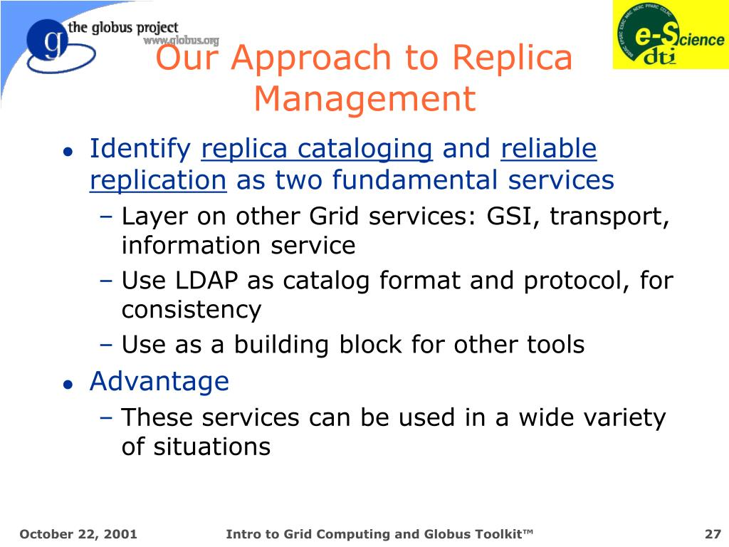 Our Approach to Replica Management