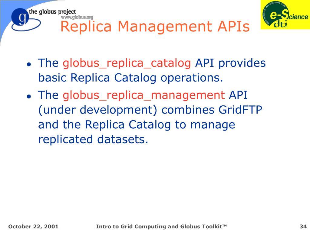 Replica Management APIs