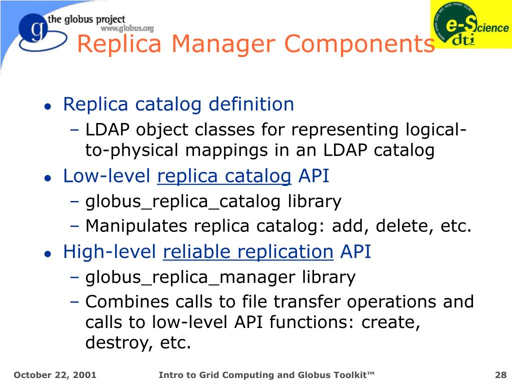 Replica Manager Components