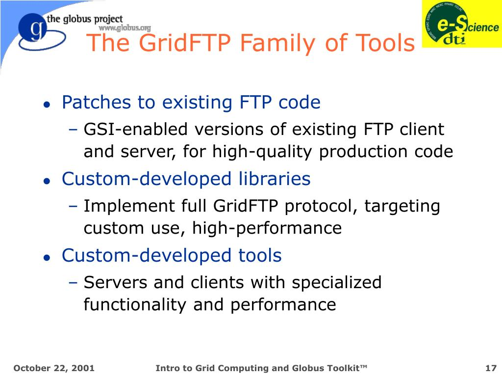 The GridFTP Family of Tools