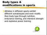 body types modifications in sports