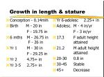 growth in length stature