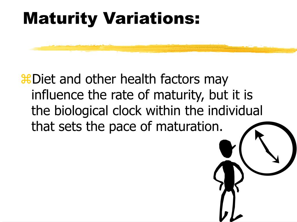 Maturity Variations: