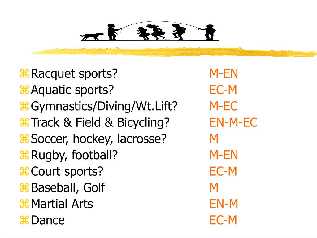 Racquet sports?