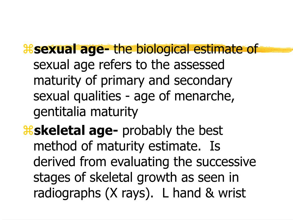 sexual age-