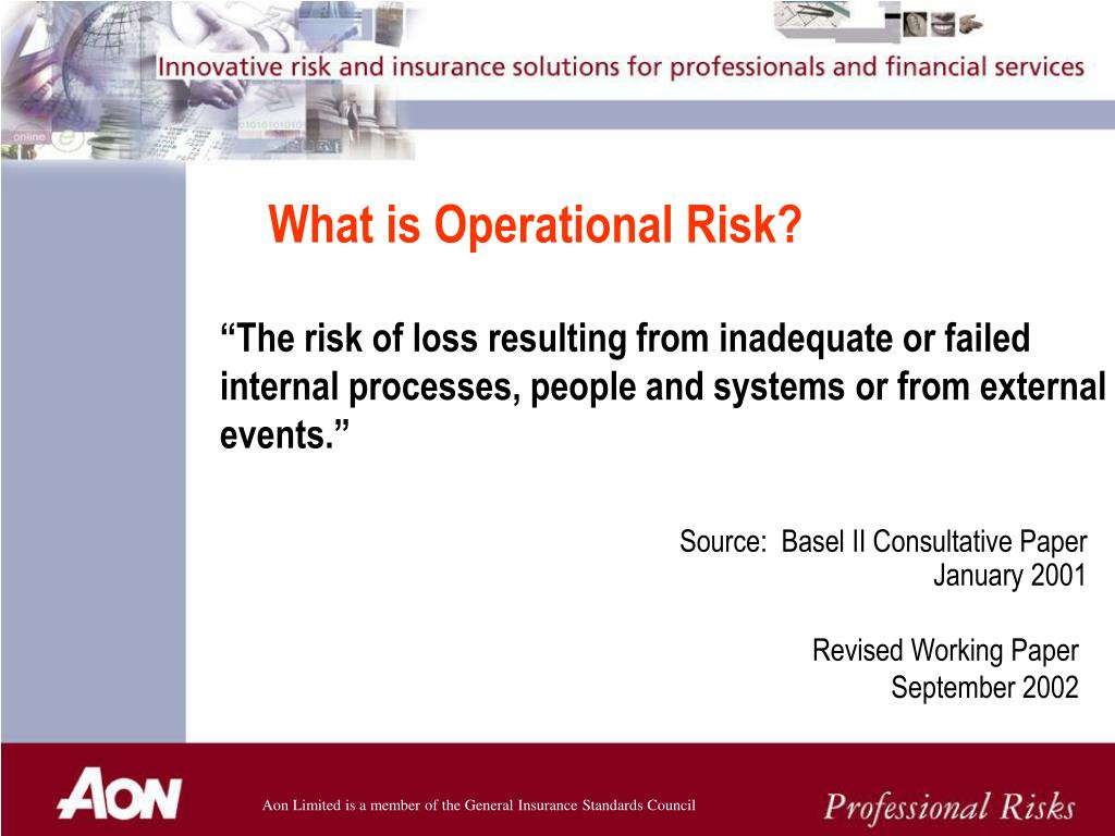 What is Operational Risk?