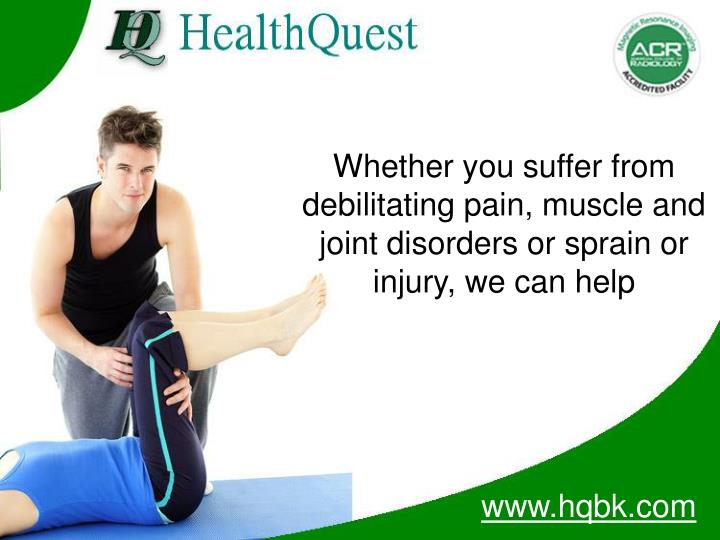 Whether you suffer from debilitating pain, muscle and joint disorders or sprain or injury, we can he...