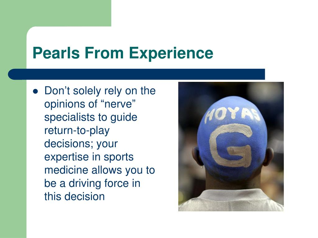 Pearls From Experience
