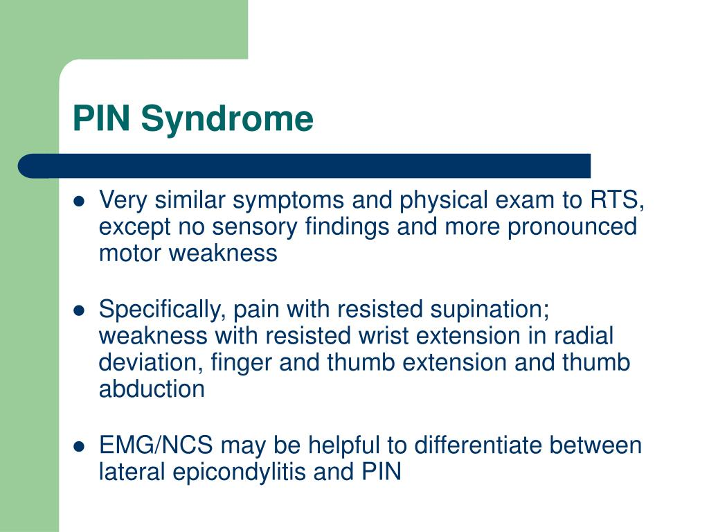 PIN Syndrome