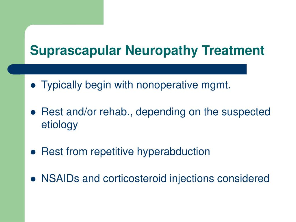 Suprascapular Neuropathy Treatment