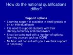 how do the national qualifications differ41