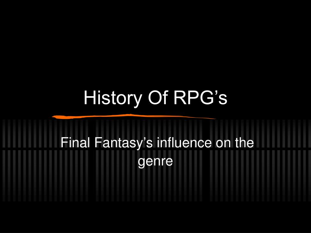 History Of RPG's