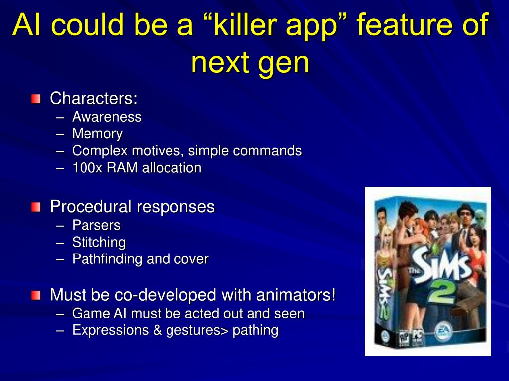 """AI could be a """"killer app"""" feature of next gen"""