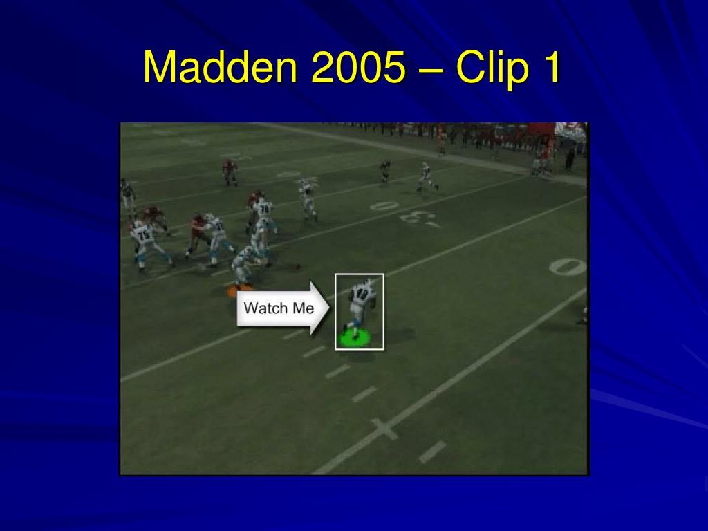 Madden 2005 – Clip 1