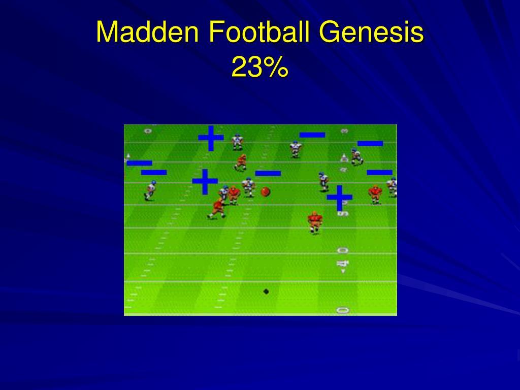 Madden Football Genesis