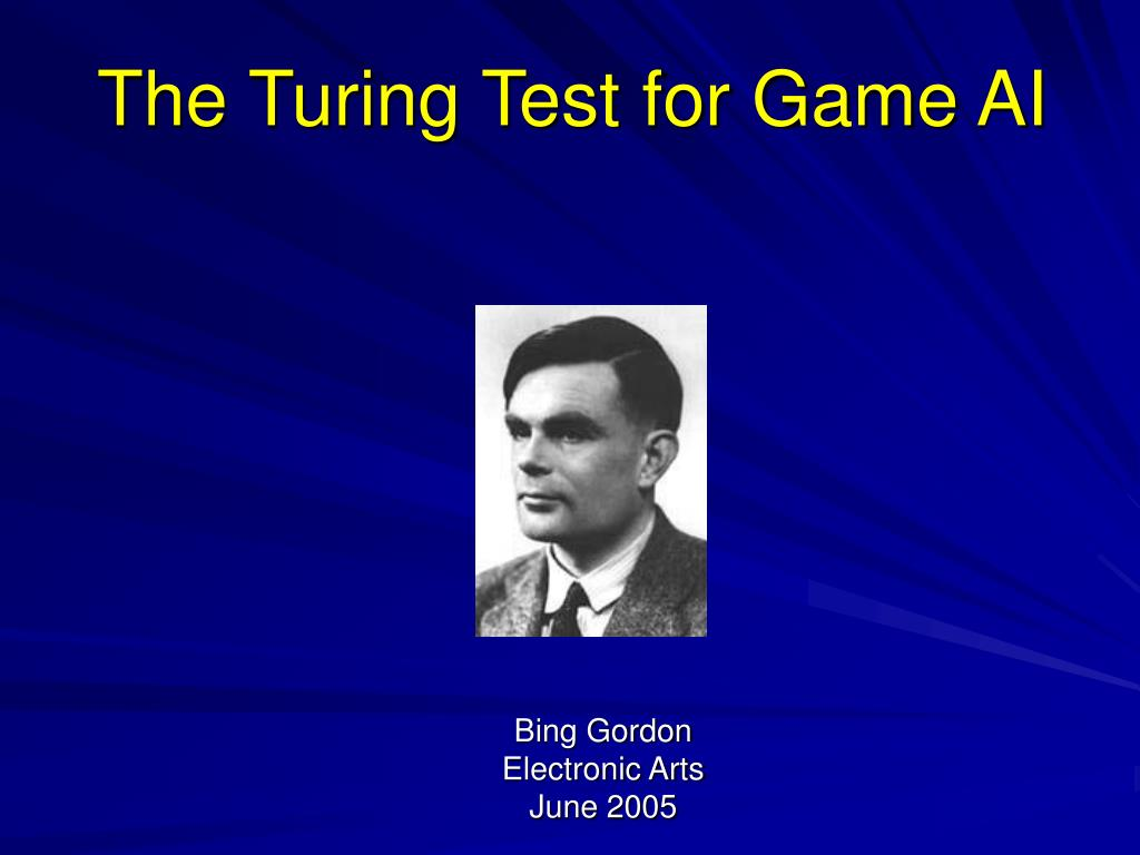 the turing test for game ai
