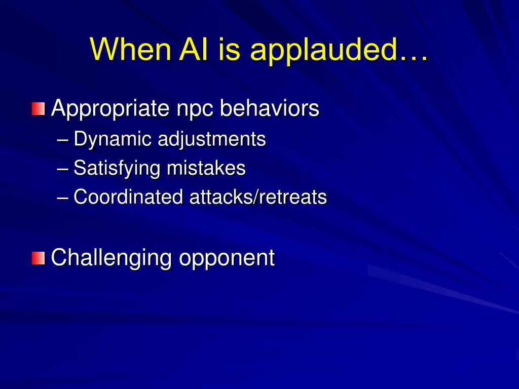 When AI is applauded…
