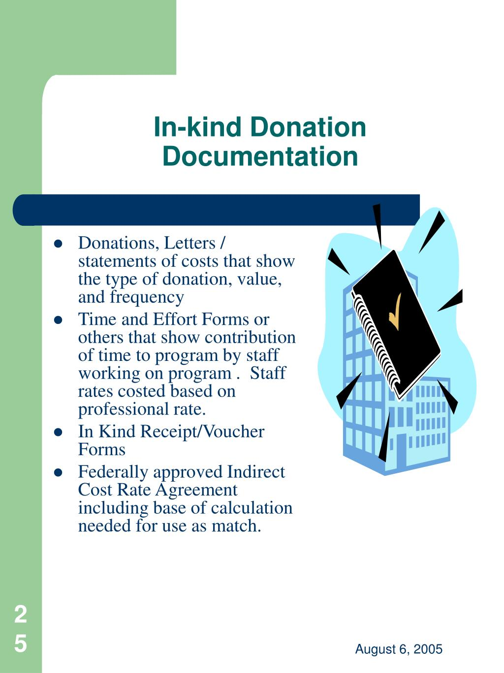 In-kind Donation Documentation