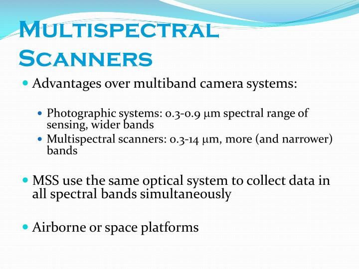 Multispectral scanners