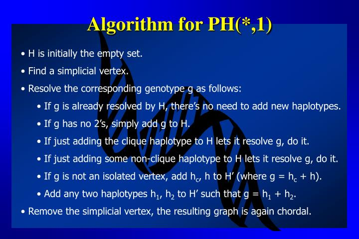Algorithm for PH(*,1)