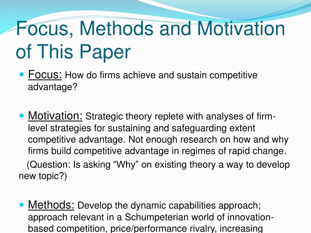 recommended approaches for sustainable competitive advantage International journal of asian social science source of competitive advantage should adopt tqm is that it embodies certain values and approaches.