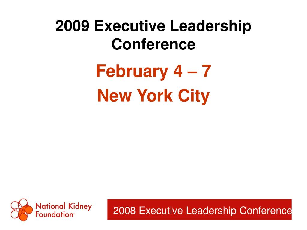 2009 Executive Leadership Conference