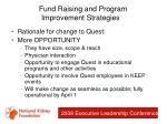 fund raising and program improvement strategies26