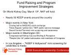 fund raising and program improvement strategies31