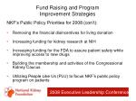 fund raising and program improvement strategies44