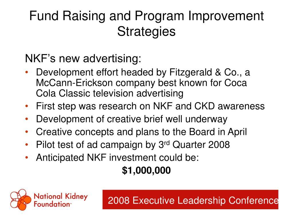 Fund Raising and Program Improvement Strategies