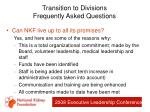 transition to divisions frequently asked questions83