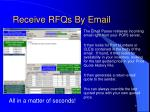 receive rfqs by email