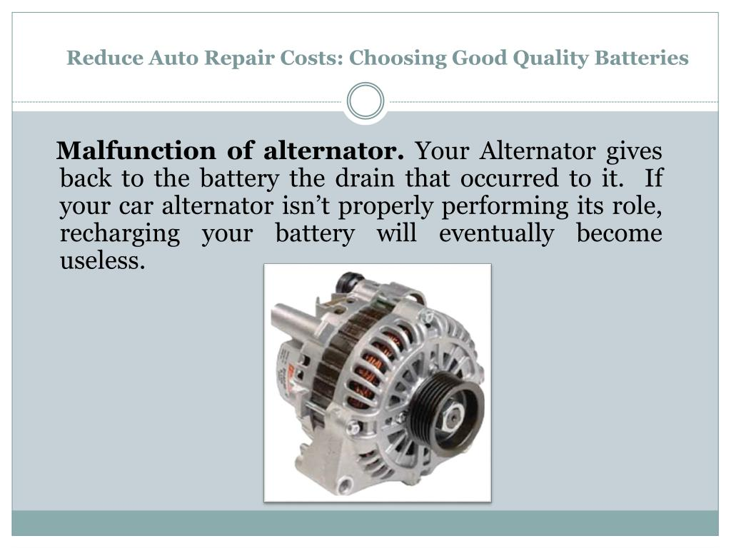 Reduce Auto Repair Costs: