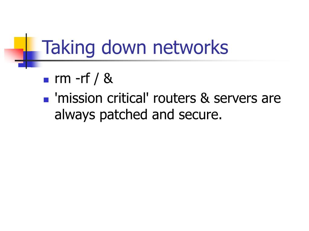 Taking down networks