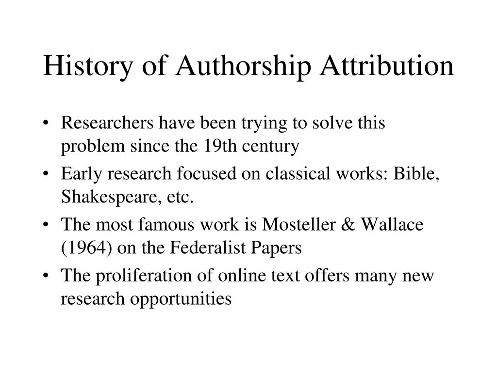 attribution research paper