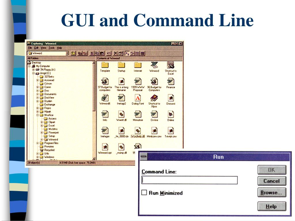 GUI and Command Line