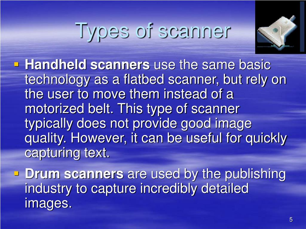Types of scanner