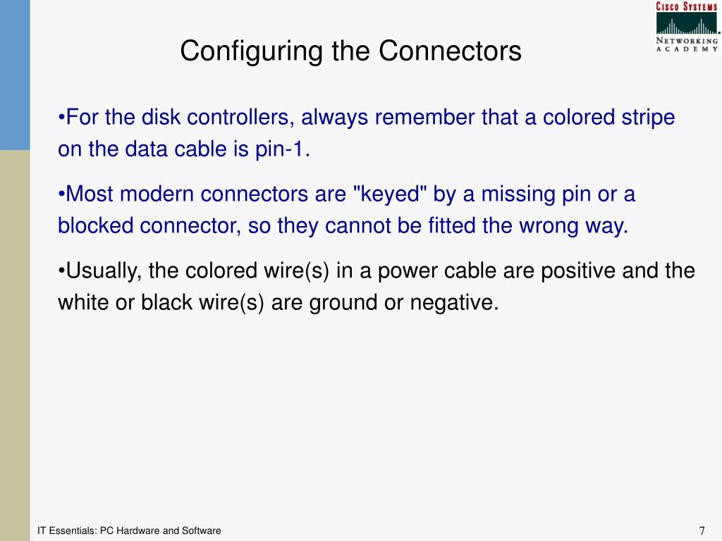 Configuring the Connectors