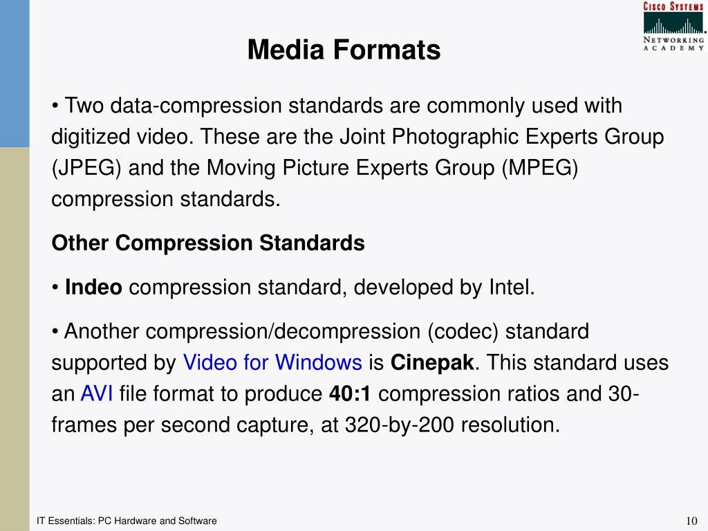Media Formats