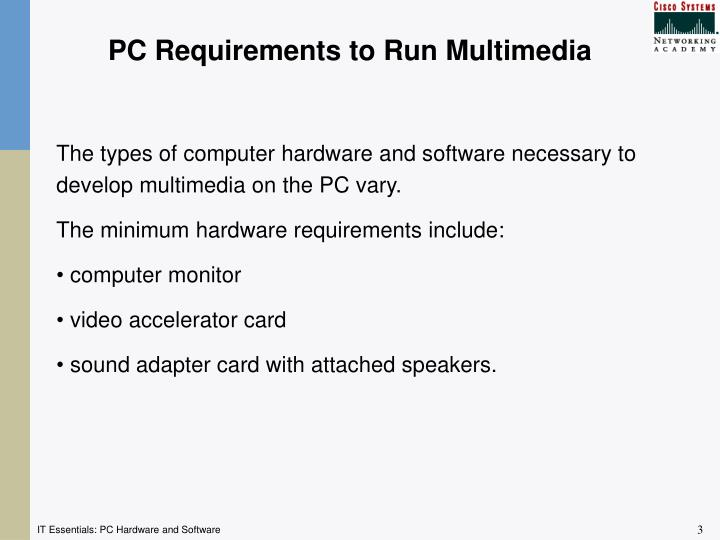 PC Requirements to Run Multimedia