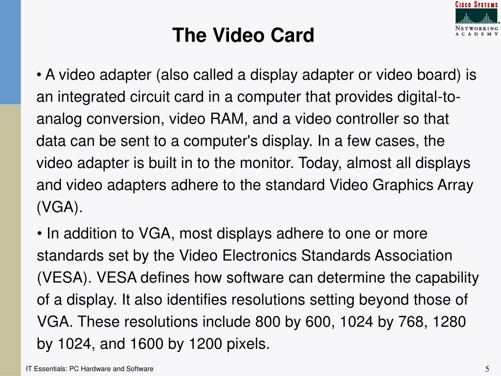 The Video Card