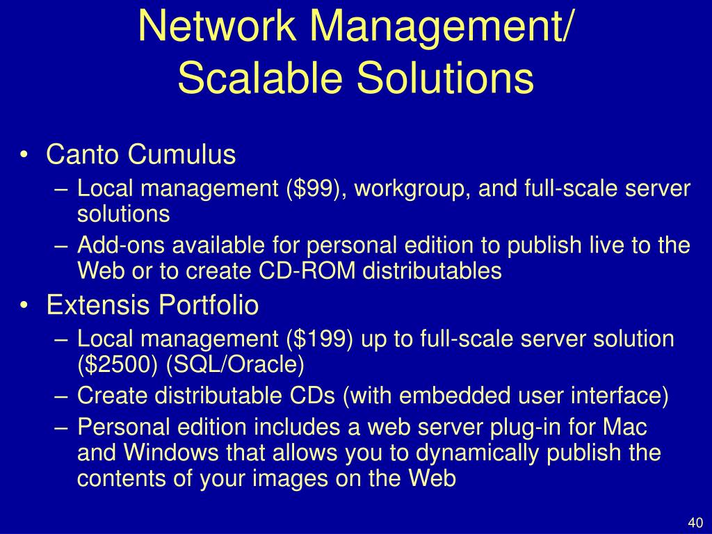 Network Management/